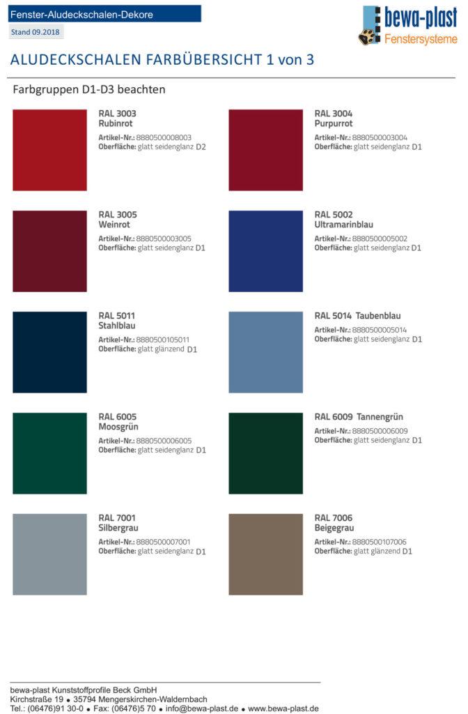 Titelbild Farbübersicht Alu-Deckschalen