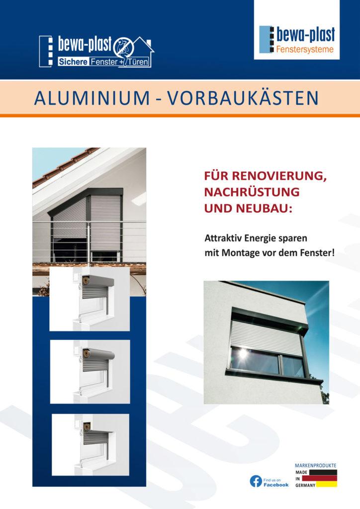 Titelbild Aluminium-Vorbaukästen