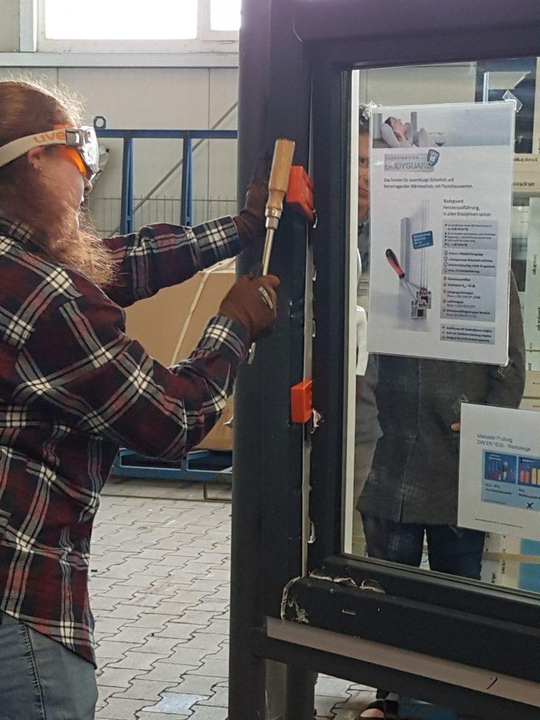 Händlerseminar 2018 – Stand Einbruchversuch Fenster für RC2