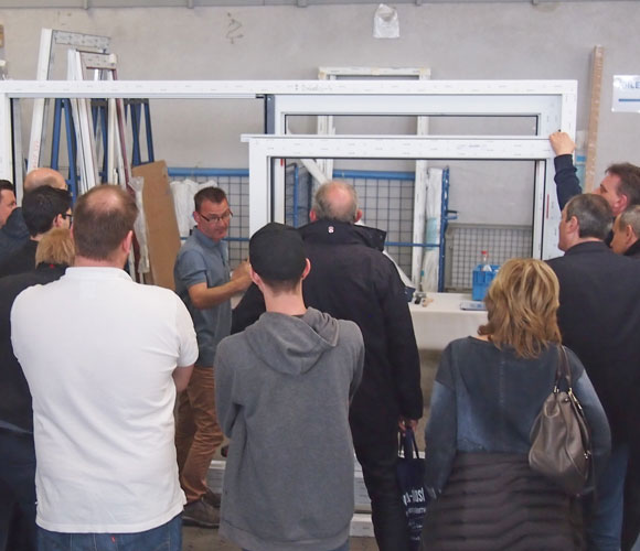 Workshop Hebe-Schiebe-Tür-Befestigung