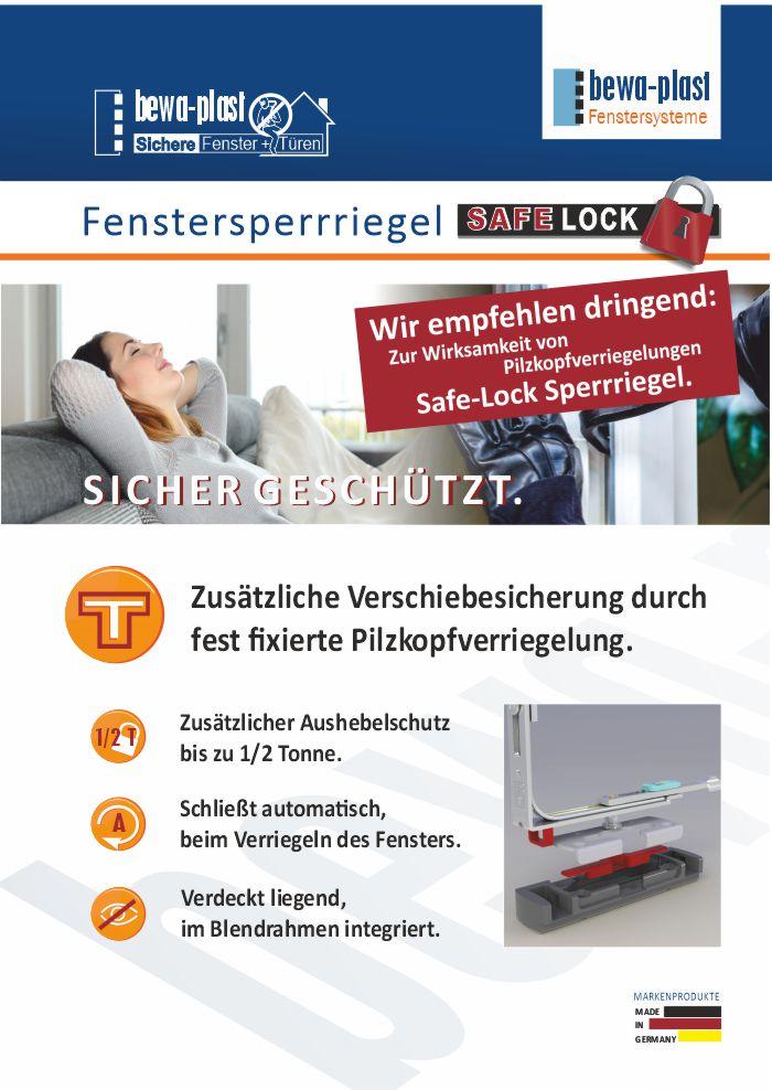 Fenstersperrriegel Safe Lock