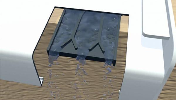 Entwässerungsmodul Wasserabführung